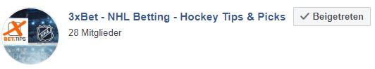 Eishockey Wett-Tipps von 3xbet auf Facebook